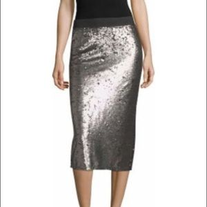 Worthington silvery pencil sequin skirt